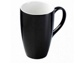 Hrnek na latté černý keramika 400ml