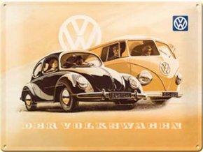 Plechová cedule Der Volkswagen 15x20cm