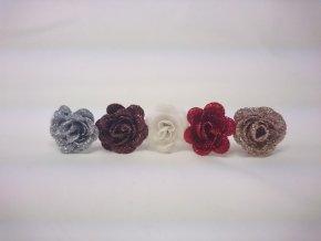 Květ růže glitr 3,5cm