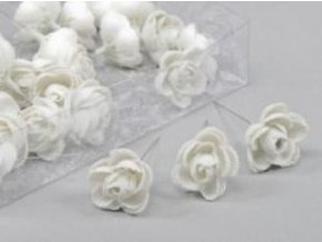 Květ růže glitr 3,5cm set 36ks