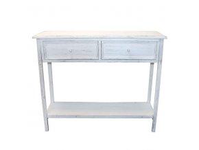 Stůl se zásuvkami | dřevo | 97x81x28cm