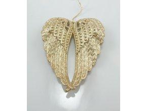 Andělská křídla zlatá 11x5x2cm