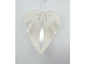 Andělská křídla stříbrná 11x5x2cm