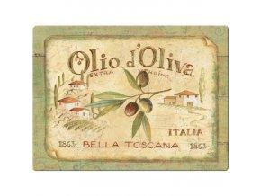 Skleněné prkénko Olio d'Oliva