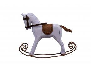 Houpací kůň bílý dřevo