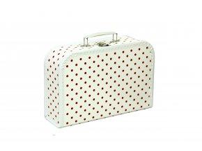 Dětský kufřík | červený puntík | 3 velikosti
