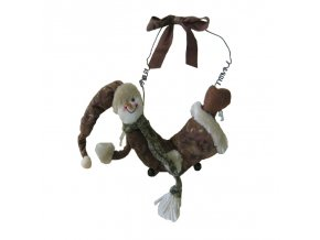 Santa nebo sněhulák závěsný hnědý semiš