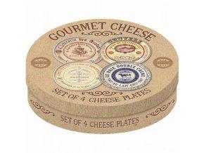 Dezertní talíře Gourmet Cheese set 4ks