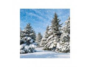 Ubrousky papírové Les pod sněhem