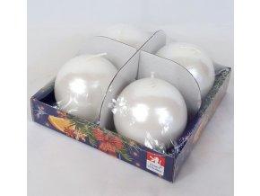 Svíčky adventní s perletí set 4ks koule 60mm
