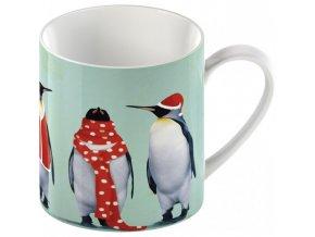 christmas penguins can mug
