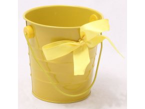 Plechový květináč žlutý 10x10cm