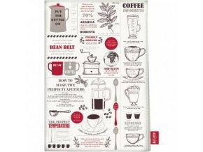 Kuchyňská utěrka Coffee