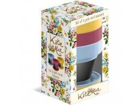 Květináče ENGLISH GARDEN | keramické | 10cm | set 3ks