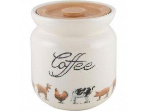 Dóza na kávu FARMERS MARKET | keramická | 11x11x12cm