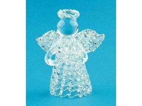Anděl skleněný na postavení 6cm