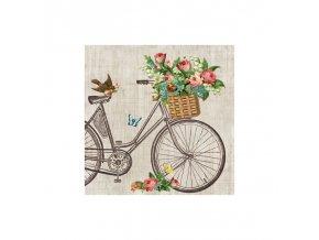 Ubrousky papírové Květinové kolo