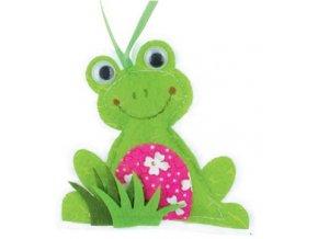 Žába z látky na zavěšení 8cm