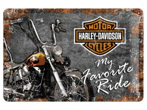 Plechová cedule Harley Davidson Favourite Ride