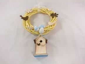 Velikonoční věnec s ptačí budkou