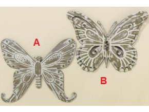 Motýl Ava lakované železo creme 22cm