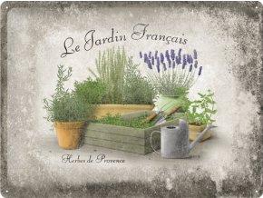 Plechová cedule Le Jardin Francais