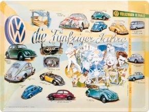 Plechová cedule VW cars