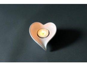 Svícen srdce bílý dolomit