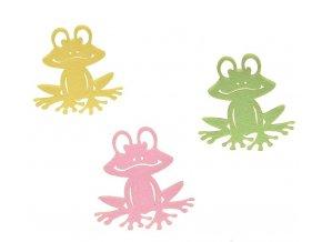 Dekorace žába filc set 3ks