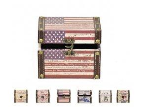 Dřevěná truhla kufřík 11x11x14cm
