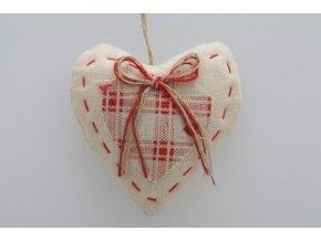 Látkové srdce 10cm