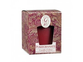 gl candle cube votive pomegranate