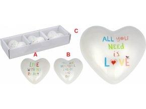 Srdce s nápisem porcelán