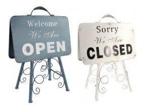 Plechová tabule Open Closed