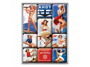 Magnetky na ledničku Ahoy Sailor