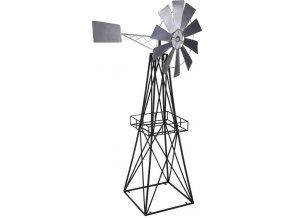 kovovy vetrny mlyn dekorace