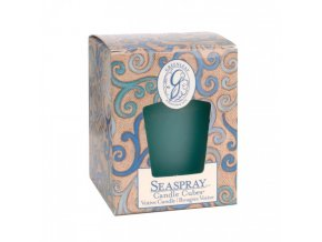 gl candle cube votive seaspray