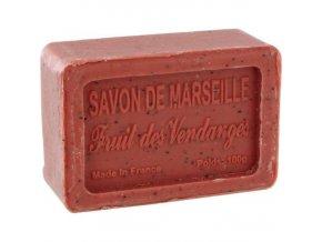 Mýdlo francouzské přírodní HROZNOVÉ VÍNO fruits de vendanges 100g