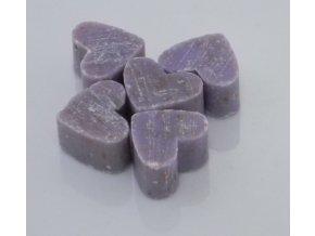 Mýdlo z ovčího mléka fialové ve tvaru srdíčka set 3ks