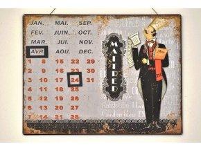 nastenny kovovy kalendar maitred