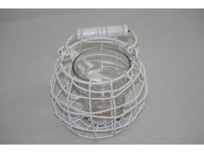 drátěná lucerna a sklo