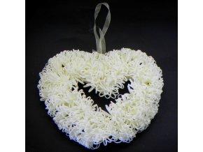 srdce polystyren pena kremova