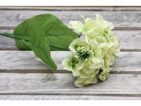 Hortenzie umělá bílo-zelená 65cm
