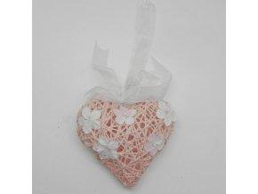 srdce zaves papirovy provazek ruzova bila A1000000D50B