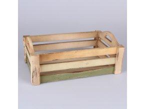 Dřevěná přepravka 36 × 14,5 × 25 cm