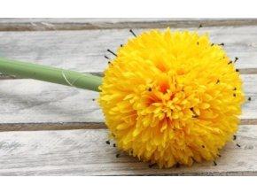Umělá květina česnek žlutý 67cm