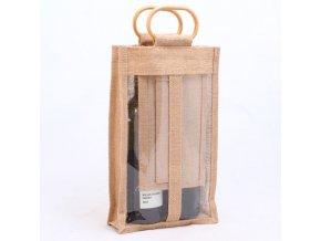 Jutová taška | pro 2 lahve vína |20x40x8cm