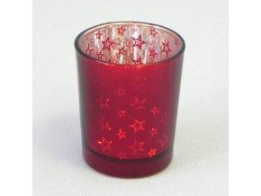svicen vanocni sklo pr 5 5v6 7cm cervena