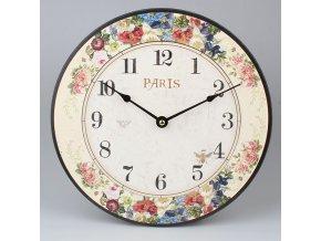 Nástěnné hodiny květy 30x30x1cm