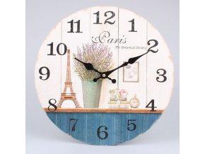 Dřevěné hodiny Paris 34x34x1cm